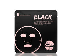 Timeless TT Radiant Transformation Black Charcoal Mask 8 Sheets - oo35mm
