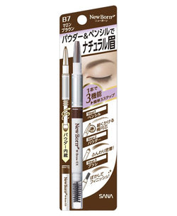 Sana New Born Eyebrow Mascara And Pencil Marron Brown - oo35mm