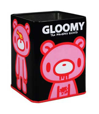 Gloomy Black Stationery Tin Holder