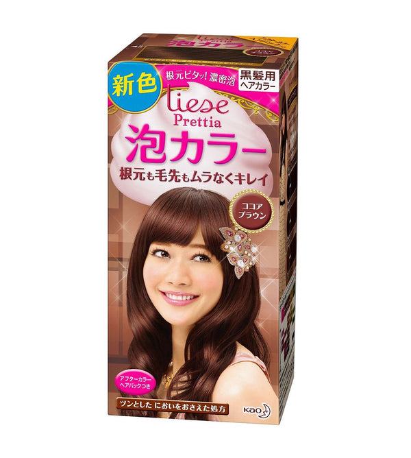 Kao Prettia Bubble Hair Color Cocoa Brown - oo35mm