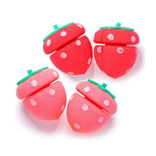 Etude House Strawberry Sponge Hair Curlers - oo35mm