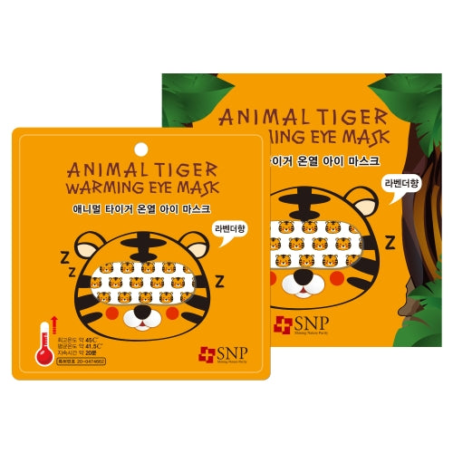 SNP Animal Tiger Warming Eye Mask 5 Sheets - oo35mm
