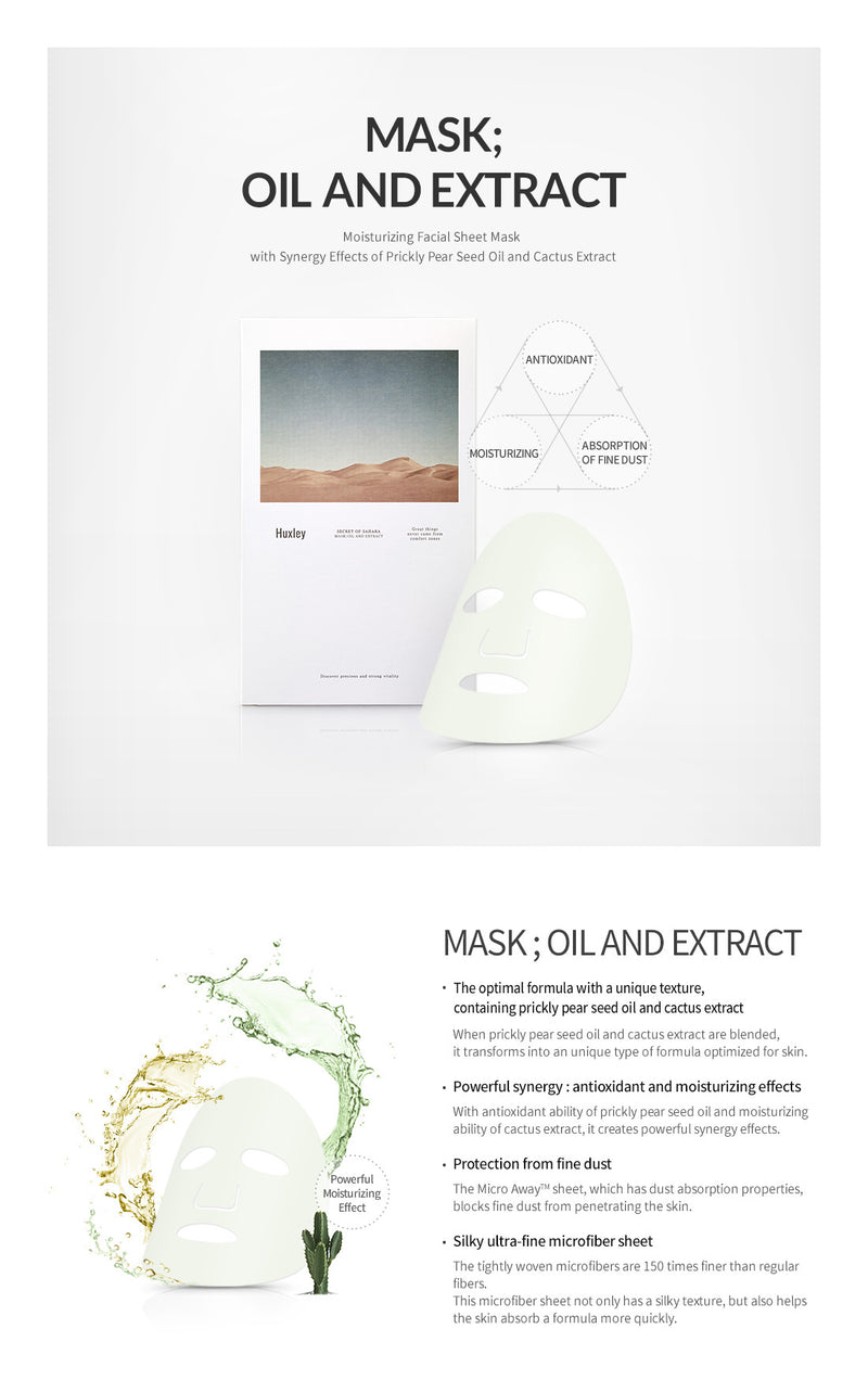 Huxley Oil And Extract Mask 3 Sheets