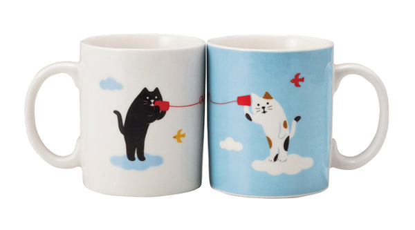Decole Concombre Moshi Moshi Cat Mug Set