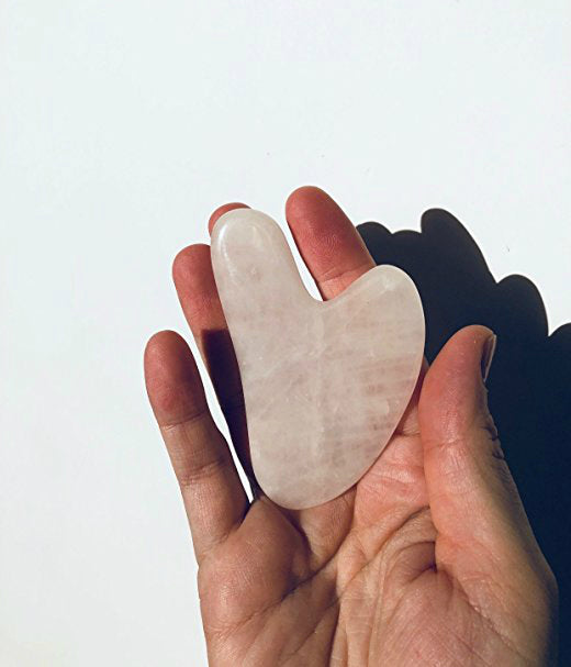 Solaris Rose Quartz Gua Sha Facial Massage Tool
