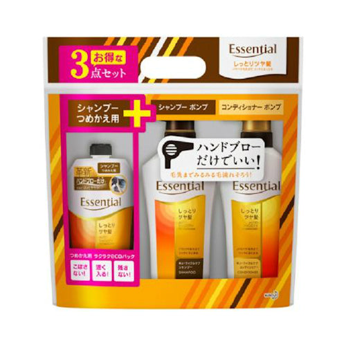Kao Essential Rich Premier Shampoo Conditioner and Hair Treatment Set