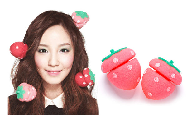 Etude House Strawberry Sponge Hair Curlers
