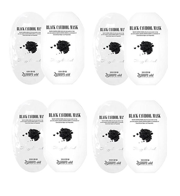 23 Years Old Black Cavidiol Mask 5 Pack