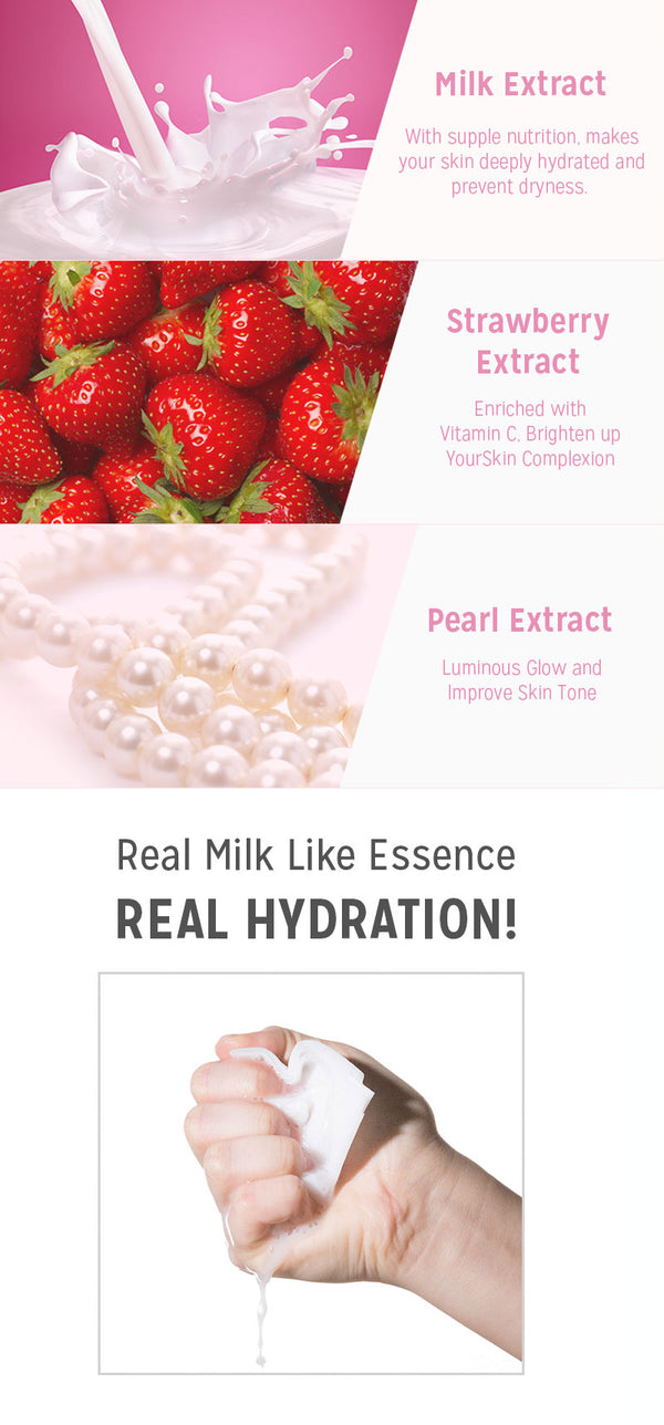 A'pieu Strawberry Milk Sheet Mask (Brightening)