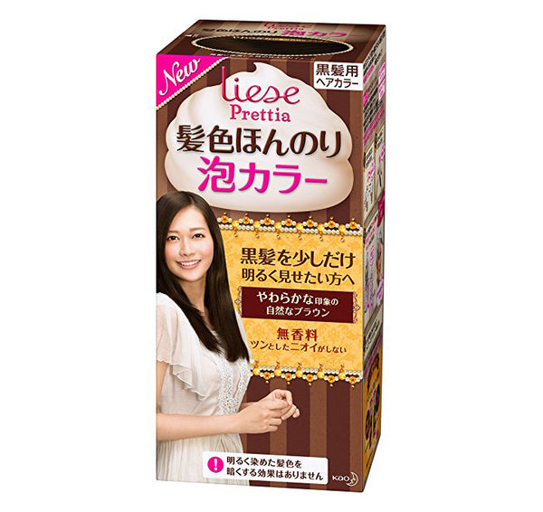 Kao Prettia Bubble Hair Color Soft Brown - oo35mm
