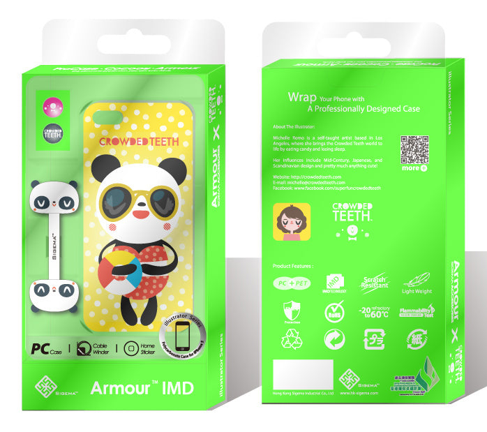 Sigema ProCase iPhone 5 Cover - Beach Panda - oo35mm