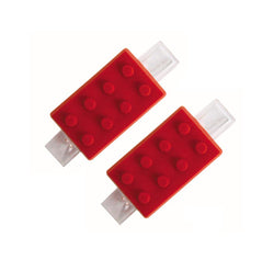 Block Photo Mini Clips Red