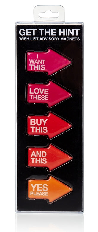 Get the Hint - Wish List Advisory Magnets
