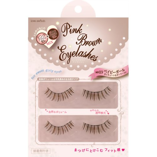 Fits Love Switch Pink Brown Eyelash 03 - oo35mm