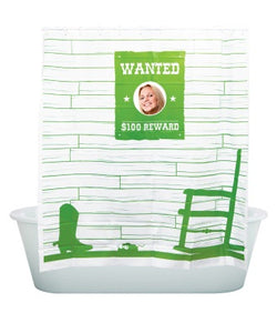 Peek-A-Boo, Wanted Shower Curtain Green