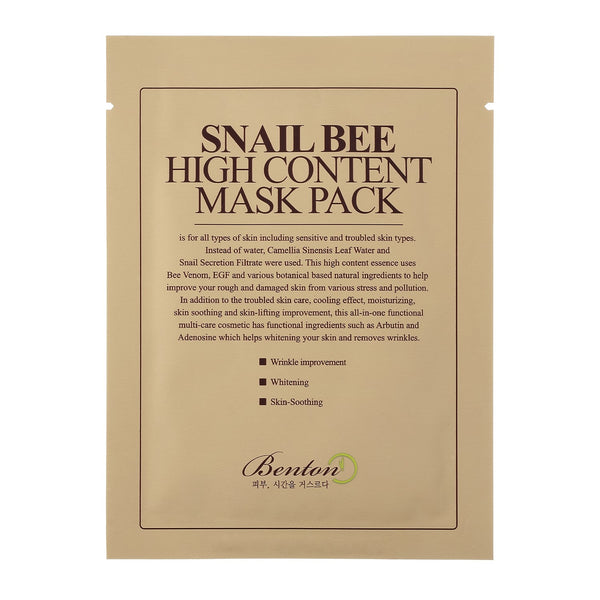 Benton Snail Bee High Content Mask - oo35mm