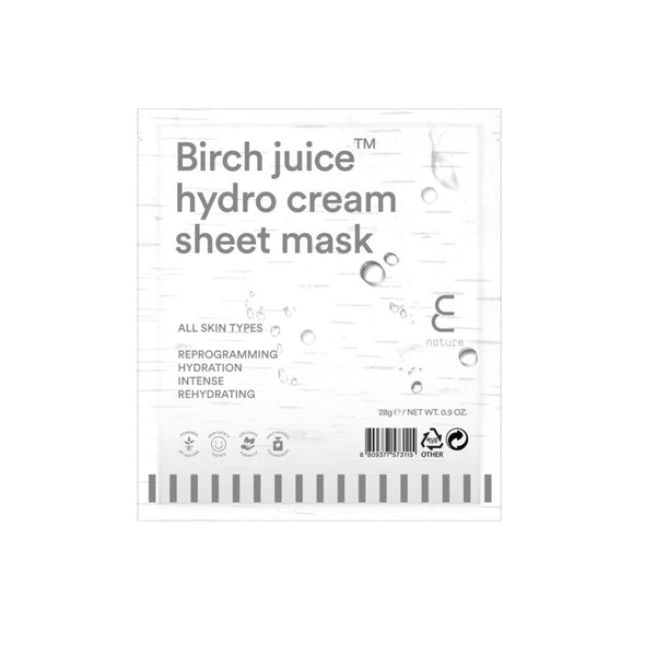 ENature Birch Juice Hydro Cream Sheet Mask - oo35mm