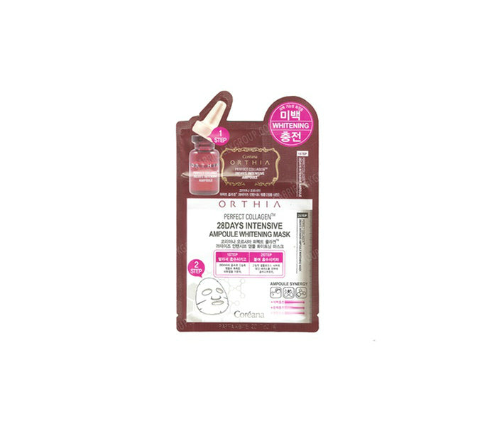 Coreana Orthia Perfect Collagen 28 Days Intensive Ampoule Whitening Mask - oo35mm