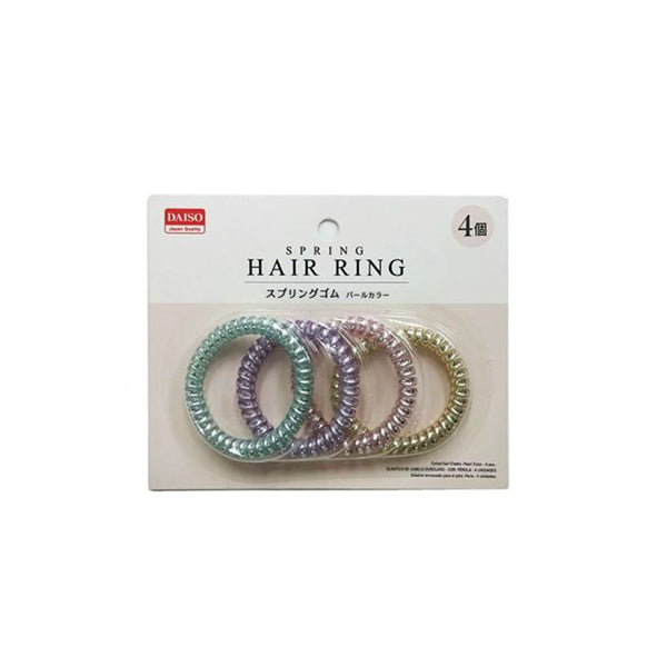 Daiso Spring Hair Ring-Pearl Color