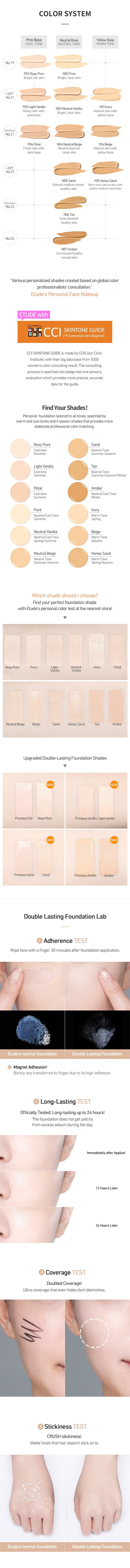 Etude House Double Lasting Foundation SPF34 PA++ - oo35mm