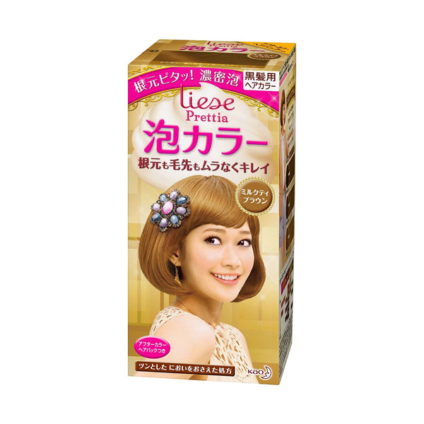 Kao Prettia Bubble Hair Color Milk Tea Brown