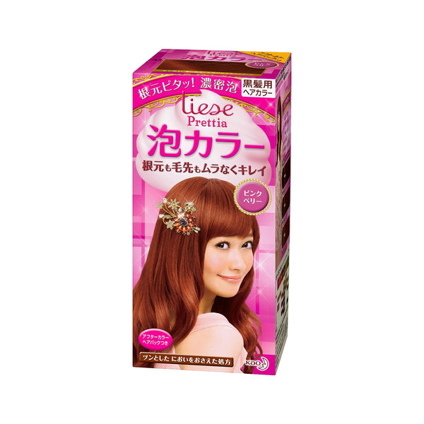 Kao Prettia Bubble Hair Color Pink Berry - oo35mm