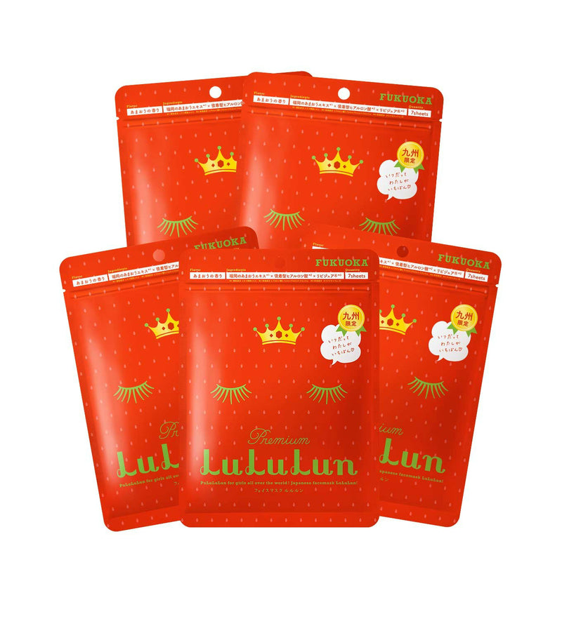 Lululun 7 Day Sheet Mask - Strawberry (Fukuoka) - oo35mm