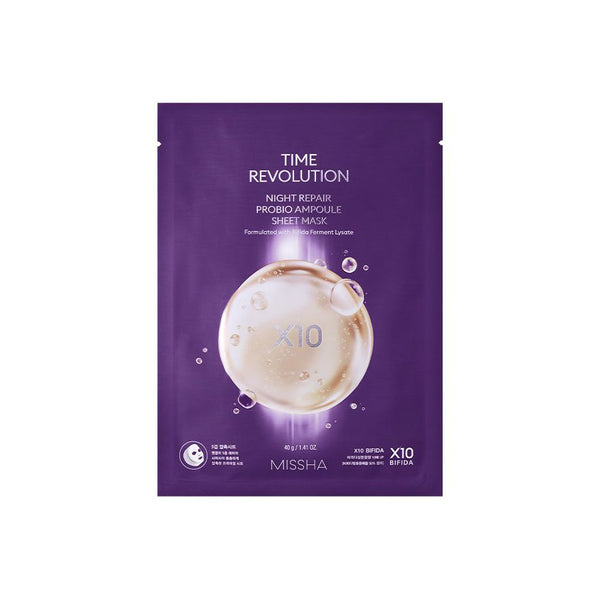 Missha Time Revolution Night Repair Probio Ampoule Sheet Mask - oo35mm