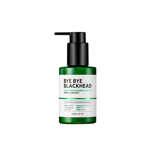 Some By Mi Bye Bye Blackhead 30 Days Miracle Green Tea Tox Bubble Cleanser - oo35mm