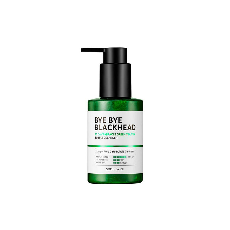 Some By Mi Bye Bye Blackhead 30 Days Miracle Green Tea Tox Bubble Cleanser US Edition