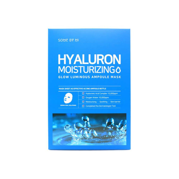 Some By Mi Hyaluron Moisturizing Glow Luminous Ampoule Mask - oo35mm
