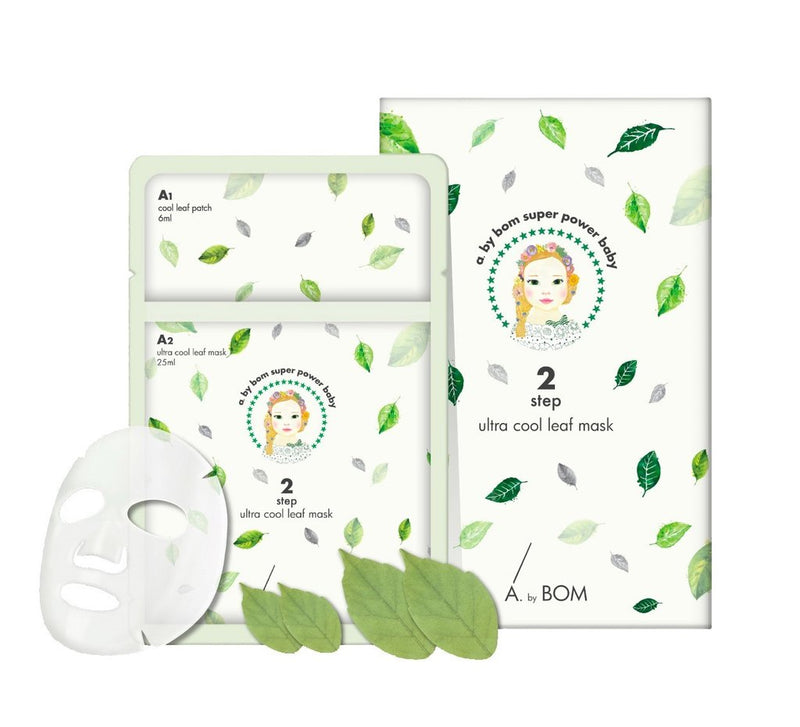 A. by BOM 2-step Ultra Cool Leaf Mask