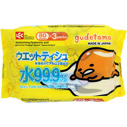 Lec Gudetama Wet Tissue 3 Set Value Pack