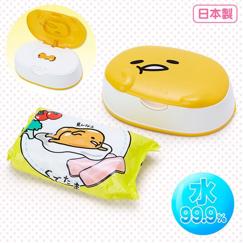 Lec Gudetama Wet Tissue With Case