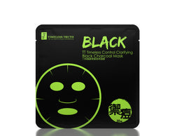 Timeless TT Control Clarifying Black Charcoal Mask 8 Sheets