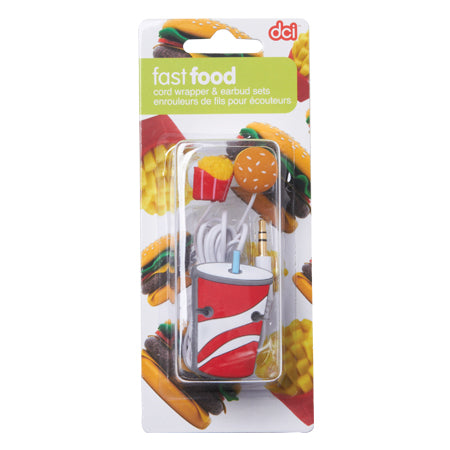 Fast Food Earbud & Cord Wrapper Set