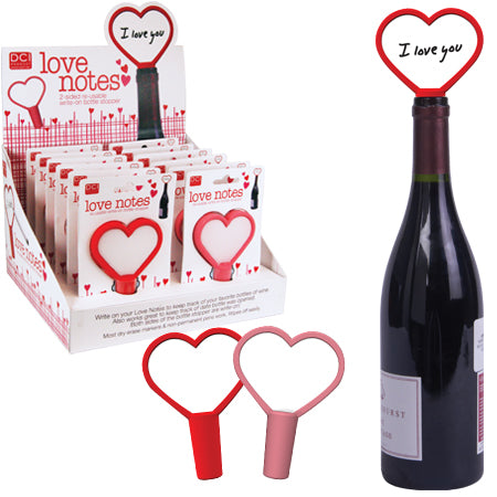 Love Notes Re-Usable Write-On Bottle Stopper - oo35mm