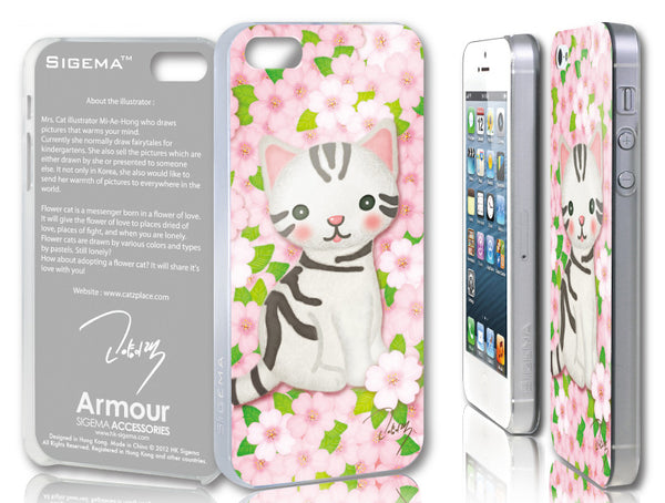 Sigema ProCase iPhone 5 Cover - Cherry Blossom and Cat - oo35mm