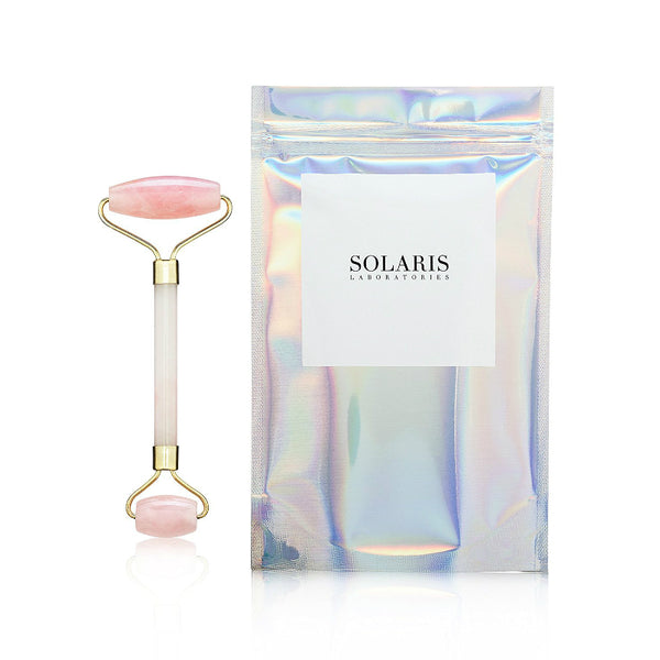 Solaris Rose Quartz Facial Roller - oo35mm