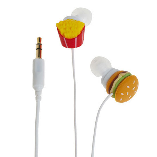 Hamburger & Fries Earbuds