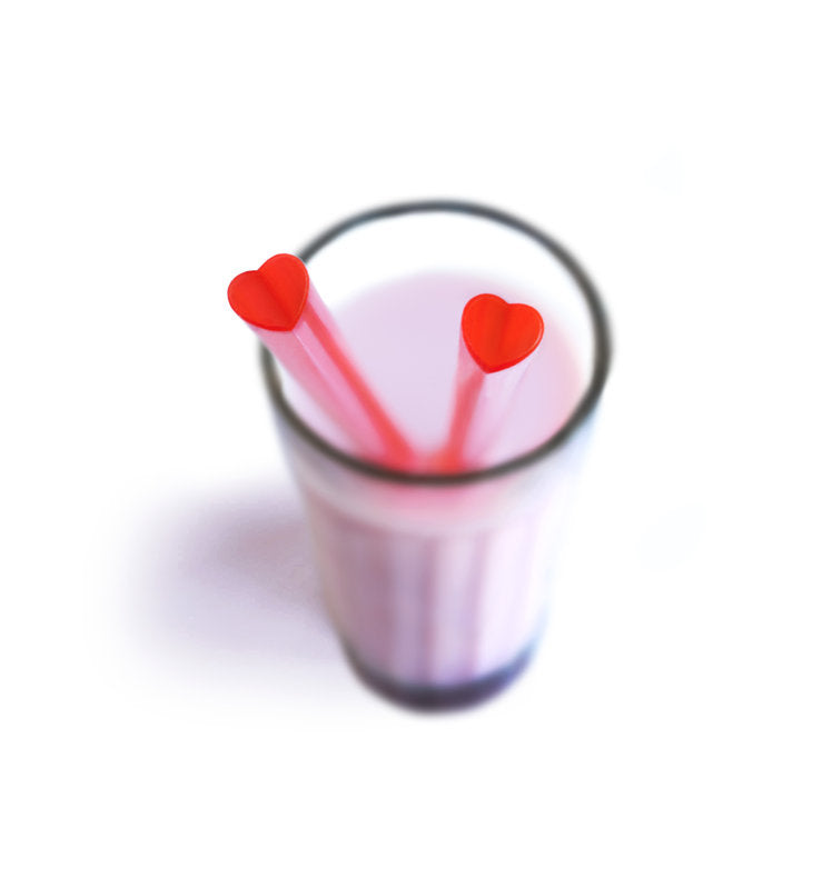 Heart Shaped Drinking Straws - oo35mm