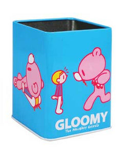 Gloomy Blue Stationery Tin Holder