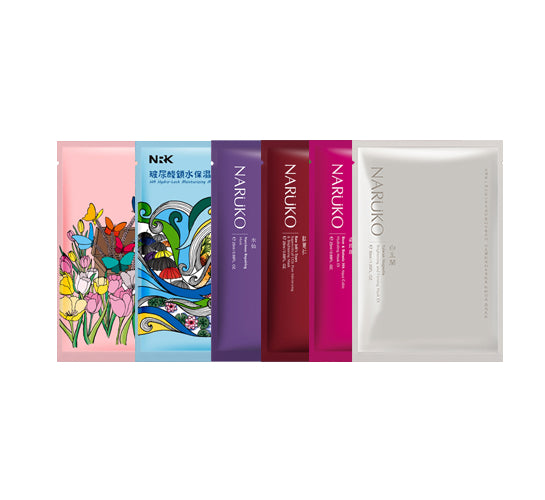 Naruko Variety 6 Pack Sheet Mask