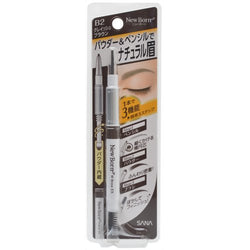 Sana New Born Eyebrow Mascara And Pencil Grayish Brown