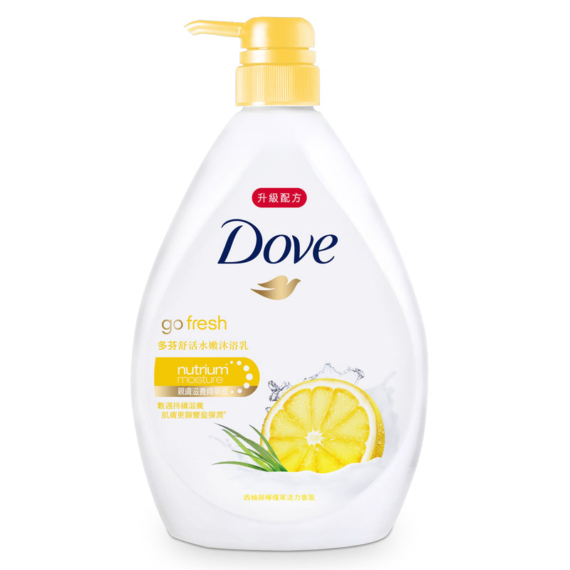 Dove Body Wash Premium Moisture Care Pump Lemon & Yuzu