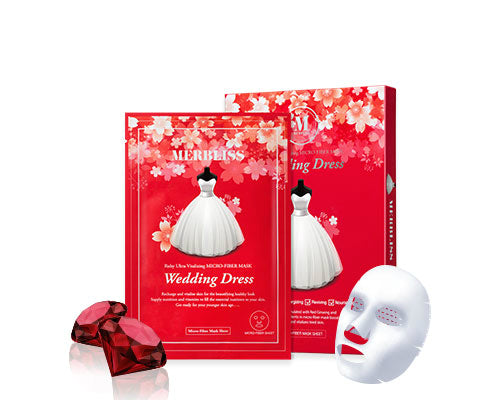 Merbliss Wedding Dress Mask Ruby
