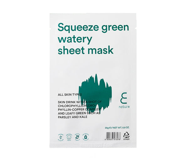 ENature Squeeze Green Watery Sheet Mask - oo35mm