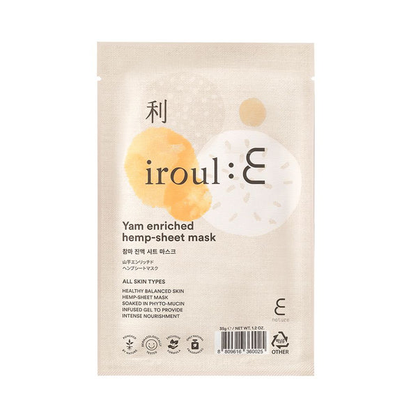 ENature IROUL:E Yam Enriched Hemp Sheet Mask - oo35mm