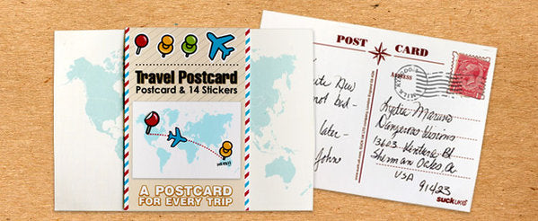 World Travel Postcard
