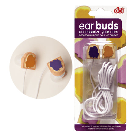 Peanut Butter and Jelly Earbuds - oo35mm